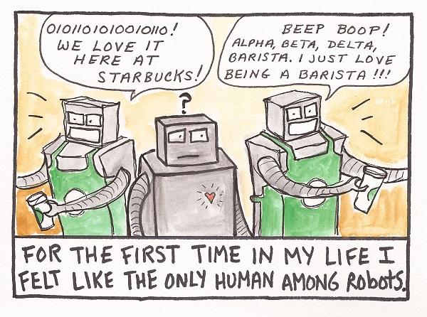human among robot