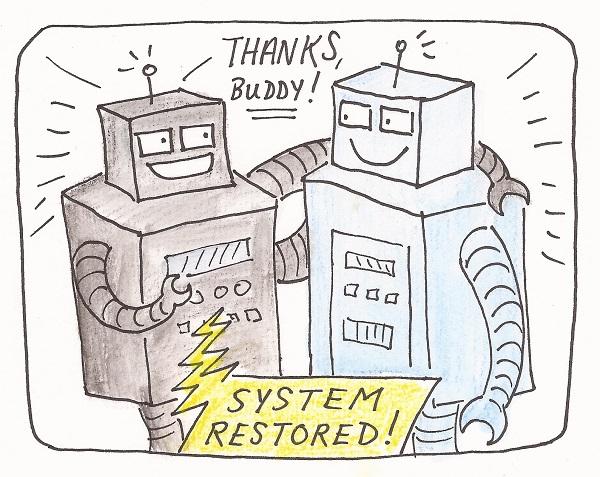 system restored